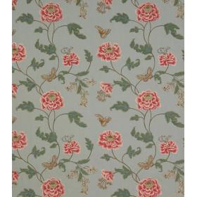 Tissus Lin Oriental Poppy Colfax - BAPTISTA