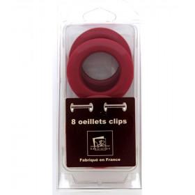 Œillets glossy cerise à clipser Ø 44mm
