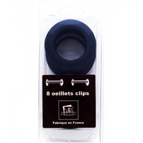 Œillets glossy marine à clipser Ø 44mm