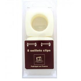 Œillets carré Ø 40mm Crème Glossy à clipser