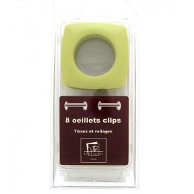 Œillets carré Ø 40mm Pistache Glossy à clipser