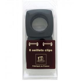 Œillets carré Ø 40mm Noir Glossy à clipser